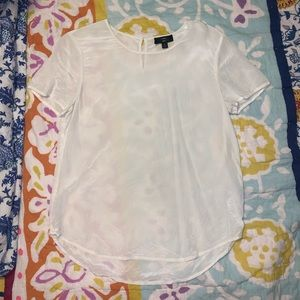 White Silk J. Crew T-Shirt